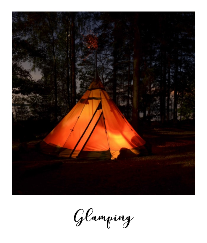 glamping tent at Overgrown Acres tipi wedding venue