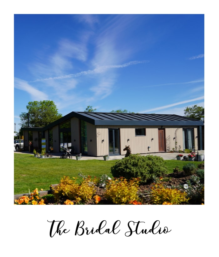 a bridal studio is included in the price at Nottinghamshire wedding venue Overgrown Acres