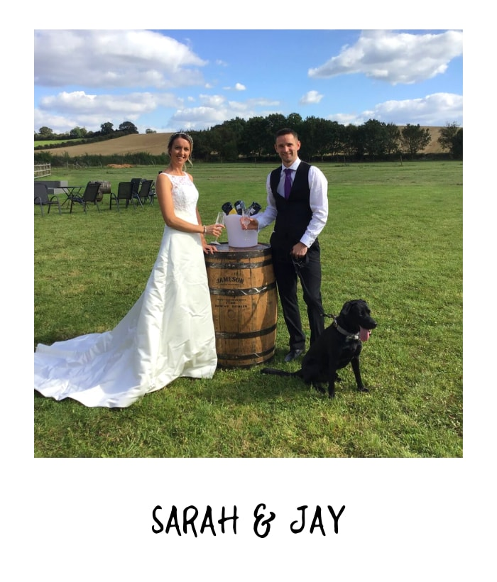 Sarah and Jay at rustic weeding venue in Nottingham