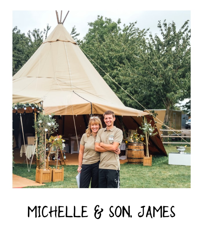 MIchelle and James at Overgrown Acres rustic wedding venue
