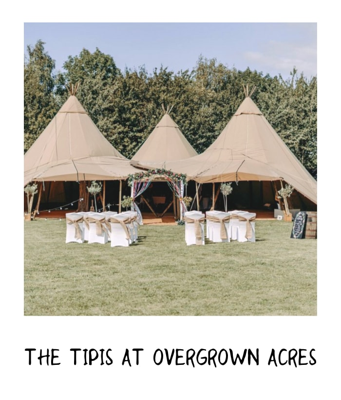 Teepee wedding with outdoor seating