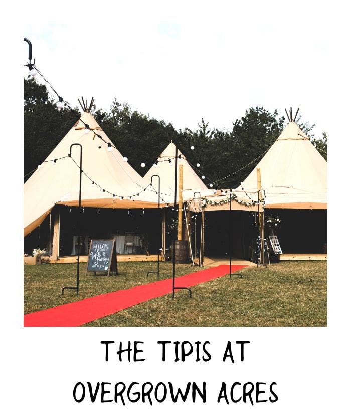 Teepee wedding with outdoor seating